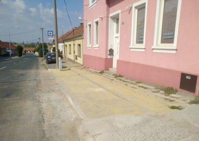 2018-Oprava povrchu autobusové zastávky Na Návsi