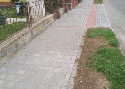 Oprava chodníku Kudrnova